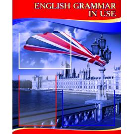 Стенд English grammar in use на английском языке в красно-синей цветовой гамме