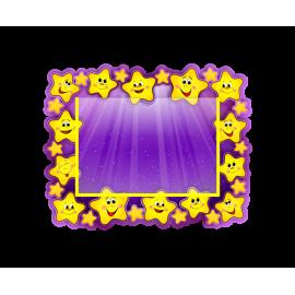 Стенд в стиле группы Звездочки с горизонтальным карманом А5