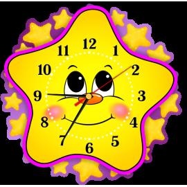 Часы для группы Звездочки