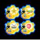 Наклейки средние для группы Пчёлки 30шт