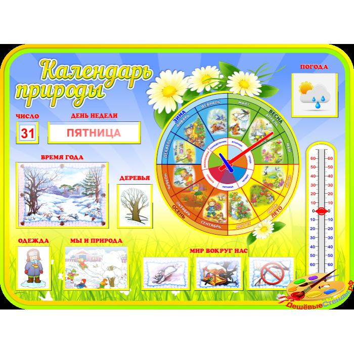 Календарь природы с карточками для группы Ромашка