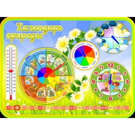 Стенд Календарь природы для группы Ромашка