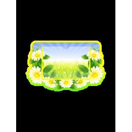 Стенд в стиле группы Ромашка с горизонтальным карманом А5