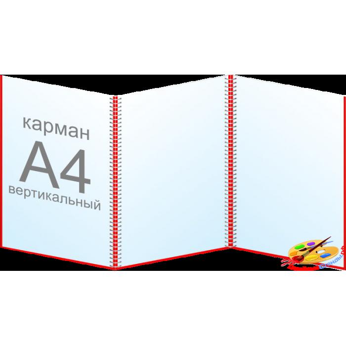 Папка-передвижка, ширма А4 вертикальная на 3-10 карманов